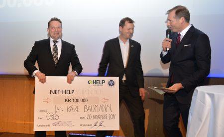 VINNER: Jan Kåre Baumann mottar NEF-HELP-stipendet for 2015.