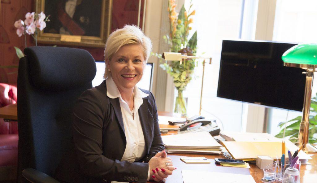 Finansminister Siv Jensen presenterte boligskatten 2017